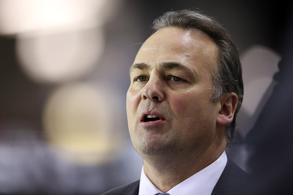 Head Coach Dale Hawerchuk of the Barrie Colts