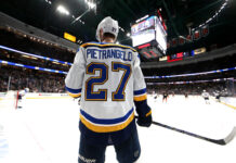 Alex Pietrangelo #27 of the St. Louis Blues
