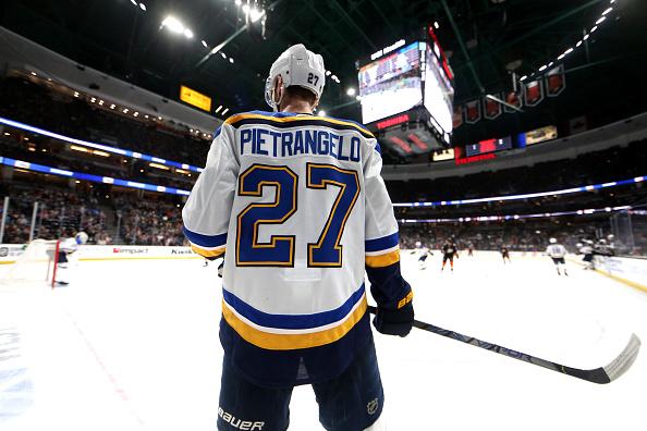 Alex Pietrangelo #27 of the St. Louis Blues