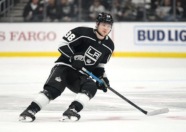 Carl Grundstrom #38 of the Los Angeles Kings