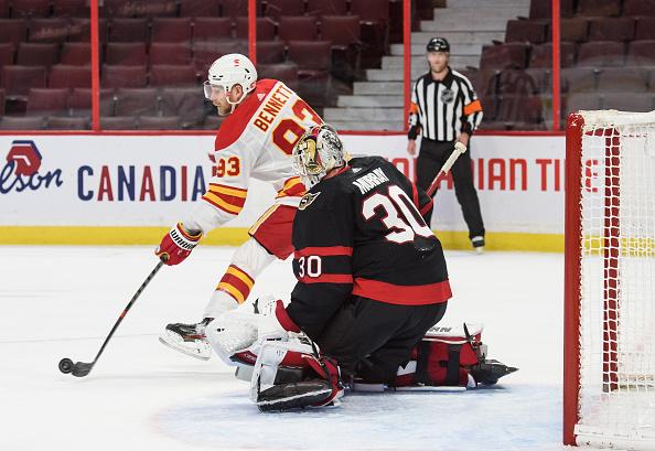 sam bennett; Calgary Flames vs Ottawa Senators