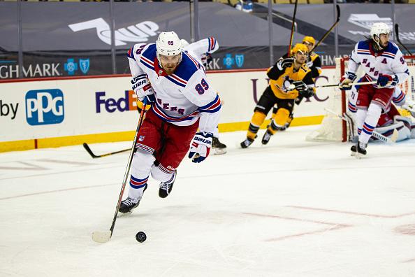 Blues Pavel Buchnevich, Pittsburgh Penguins vs New York Rangers