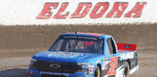 Stewart Friesen earns first win