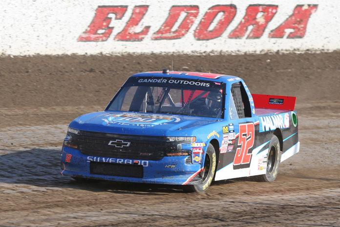 Stewart Friesen earns first win