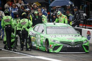 It's a shot of the driver most affected by NASCAR's bad officiating, Sunday, at Loudon.
