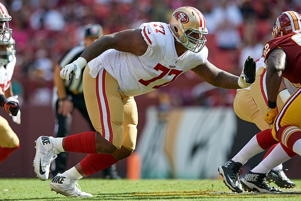 huge selection of 2f1e3 c82ce San Francisco 49ers Trade Trent Brown To New England ...