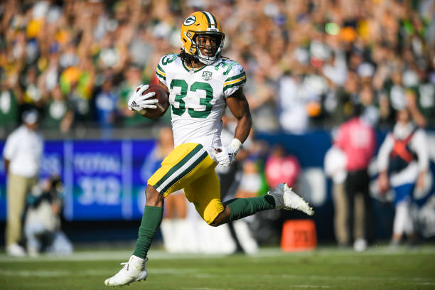 save off e8e89 11c18 Fantasy Football: It's Finally Time to Start Aaron Jones ...