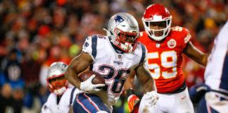 New England Patriots and Los Angeles Rams Running Backs