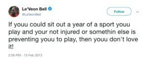 Le'Veon Bell Tweet
