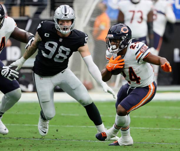 Maxx Crosby domina en Las Vegas Raiders ganan a los Denver Broncos