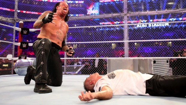 Undertaker following his victory over Shane-O-Mac at Wrestlemania 32, April 2016 (Photo: WWE.com)