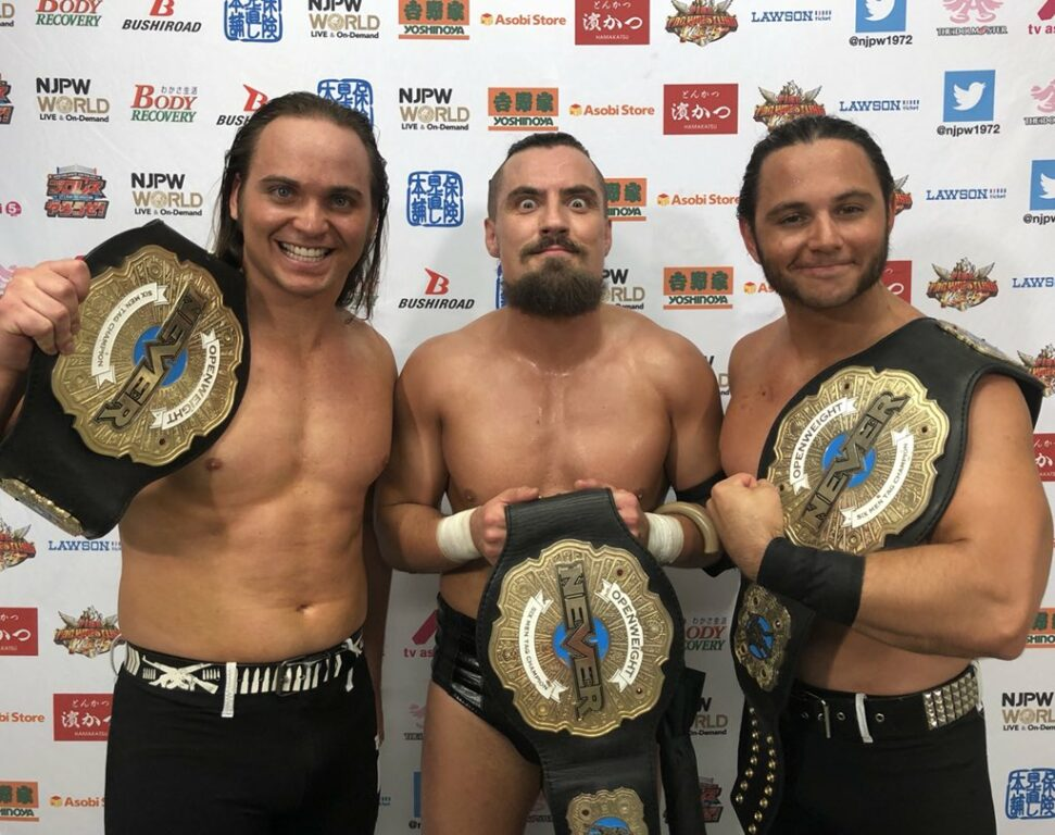 Young Bucks and Marty Scurll win NEVER Openweight 6-Man Tag Team Championship