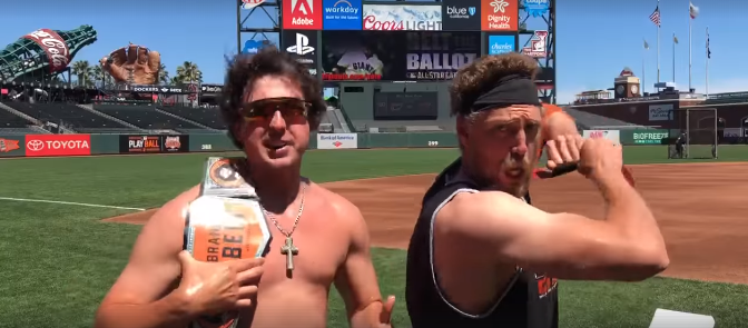 Derek Holland and Hunter Pence use Wrestling Parody