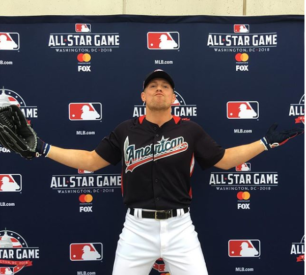 online store 3f1f3 0a318 Miz at the 2018 MLB All-Star Legends and Celebrity Softball ...