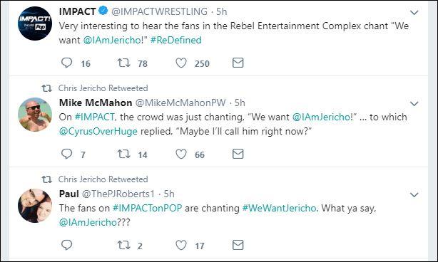 Jericho tweets