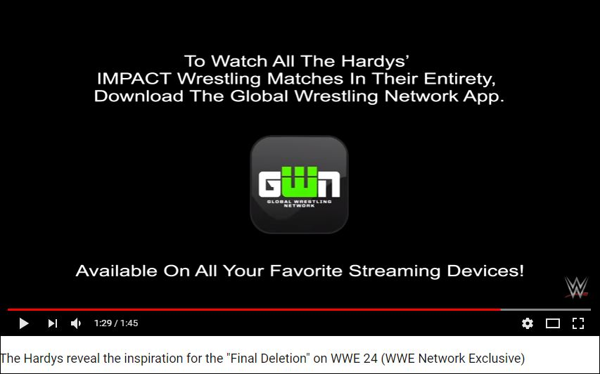 IMPACT and WWE combined for Hardys footage