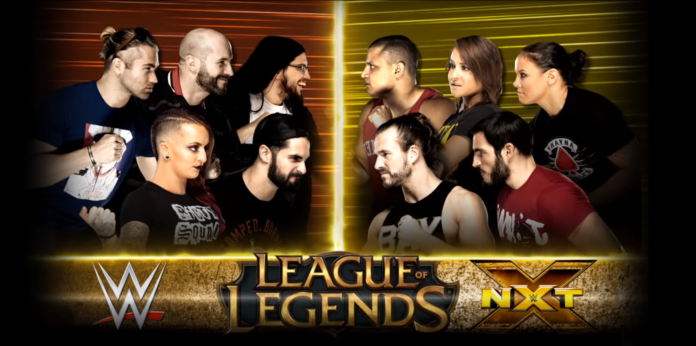Team NXT vs Team WWE League of Legends