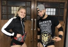 Fight Forever champs, Flip Gordon and Millie McKenzie
