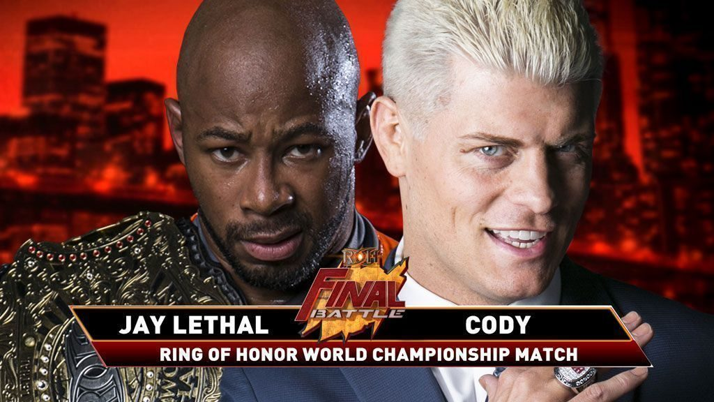 Jay Lethal vs Cody Final Battle