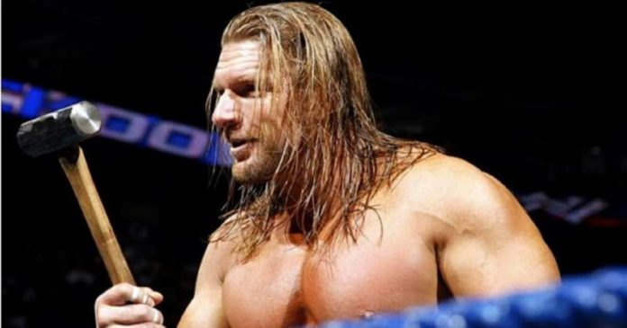 Triple H, wrestlers and props