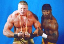Brock Lesnar and Shelton Benjamin