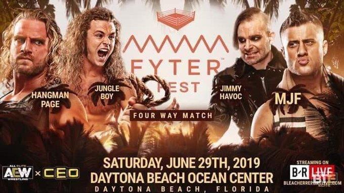 Hangman Page vs Jungle Boy vs Jimmy Havoc vs MJF - Fyter Fest