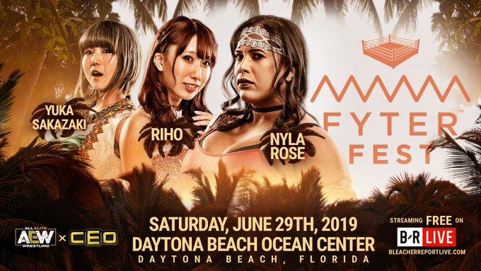 Nyla Rose vs Yuka Sakazaki vs Riho - Fyter Fest