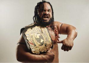 Jacob Fatu with the MLW World Heavyweight Championship