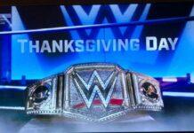 wwe thanksgiving belt
