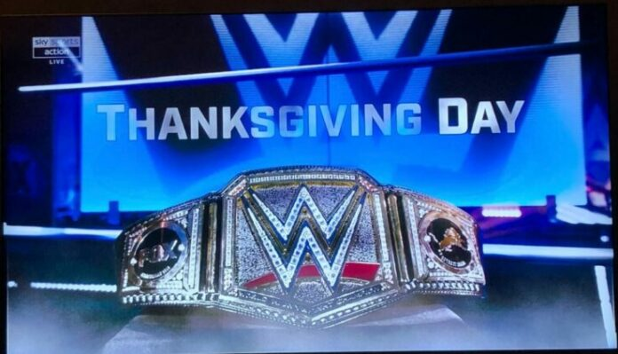 wwe thanksgiving belt