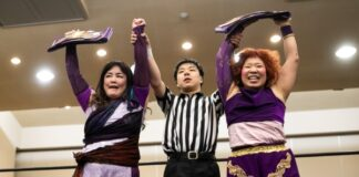 Emi Sakura Kaori Yoneyama Asia Dream Tag Team Champions
