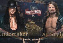 WrestleMania 36 - The Undertaker vs. AJ Styles