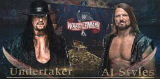 WrestleMania 36 - The Undertaker vs. AJ Styles