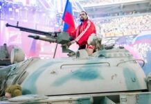 Rusev Enters on Tank
