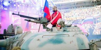 Rusev Enters on Tank