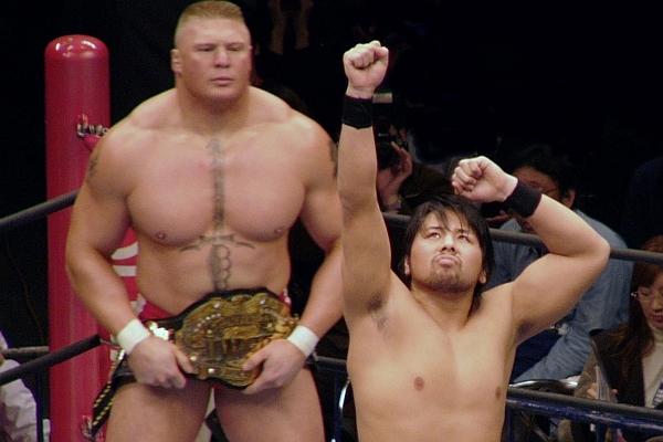Shinsuke Nakamura Brock Lesnar