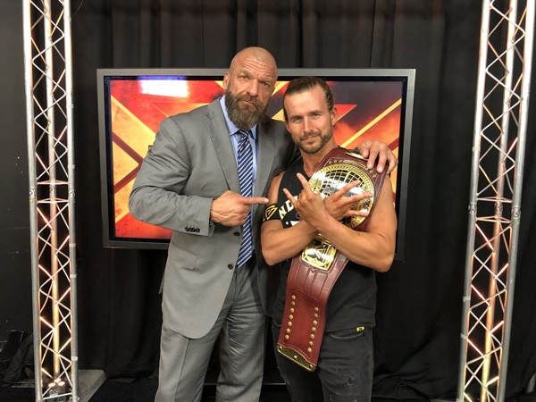 Triple H with Adam Cole