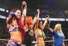 Sasha Banks and Bayley celebrate at NXT TakeOver: Brooklyn