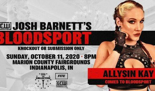Allysin Kay GCW Josh Barnett's Bloodsport 3