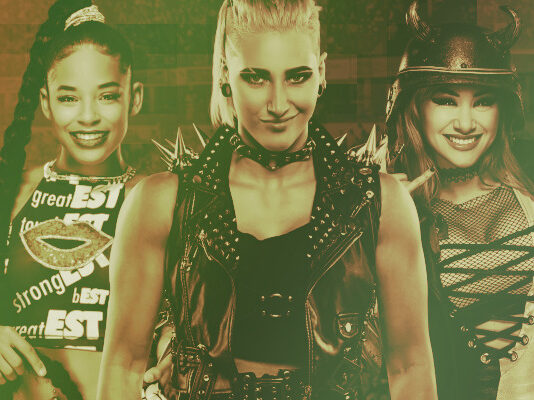 WWE Bianca Belair Rhea Ripley Shotzi Blackheart