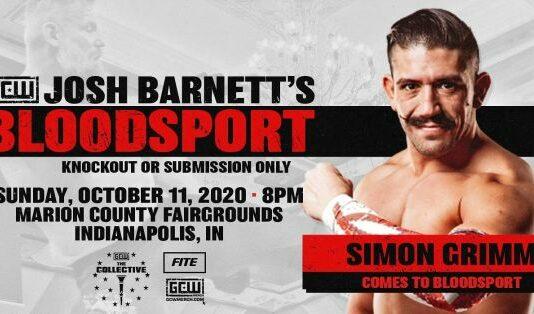 Simon Grimm GCW Josh Barnett's Bloodsport 3