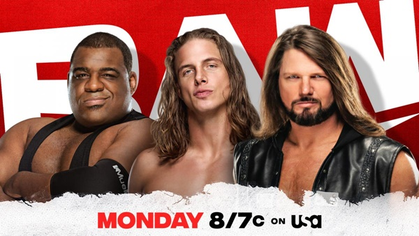 Monday Night RAW AJ Styles Matt Riddle Keith Lee