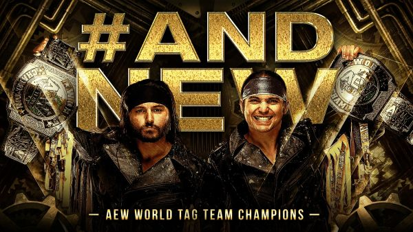 The Young Bucks AEW World Tag Team Champions Full Gear