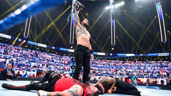 Roman Reigns Kevin Owens Jey Uso WWE SmackDown