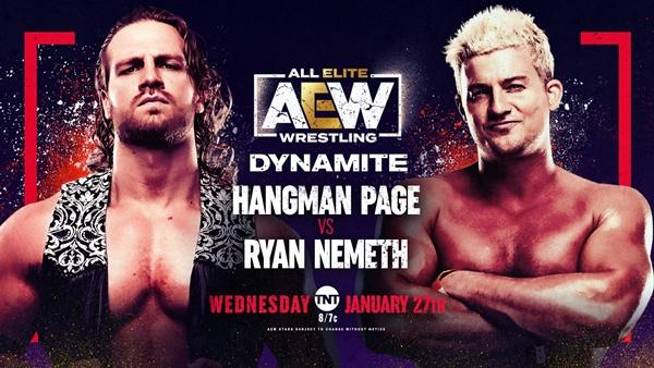 Ryan Nemeth AEW Debut vs Hangman Page