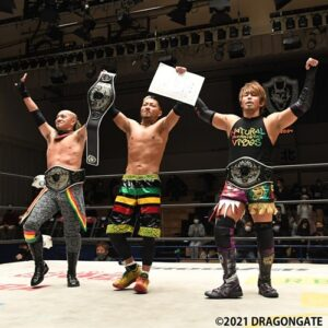Dragon Gate News Natural Vibes Win Trios titles