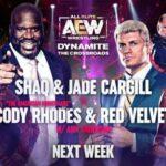 AEW Dynamite 3-3-21 Shaq Cody Jade Red Velvet