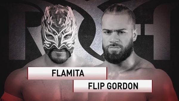 ROH TV #495 Card Flamita vs Flip Gordon