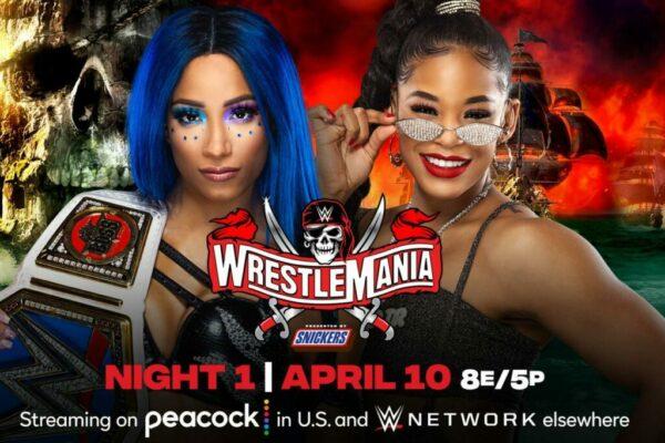 Sasha Banks vs Bianca Belair WrestleMania 37 Night One