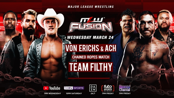 MLW FUSION Card Chained Ropes Match